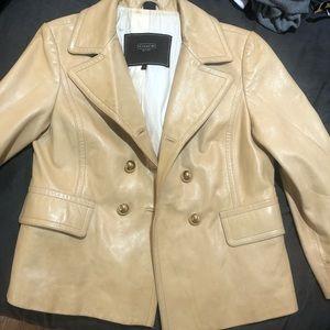Vintage Coach Leather Blazer Jacket Coat